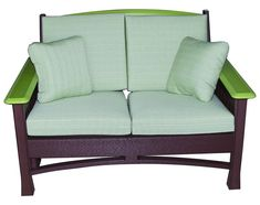 Amish Poly Outdoor Madison Loveseat Cozy for outdoor time! What colors will you choose for your eco-friendly Madison Loveseat?