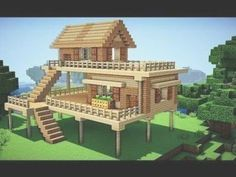 Minecraft: Starter House Tutorial - How to Build a House in Minecraft / . Minecraft: Starter House Tutorial - How to Build a House in Minecraft / . Minecraft Starter House, Minecraft Small House, Minecraft World, Cute Minecraft Houses, Minecraft House Tutorials, Minecraft Houses Survival, Minecraft Houses Blueprints, Minecraft House Designs, Minecraft Tutorial