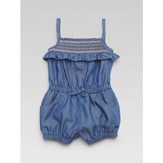 Gucci Infant's Denim Overalls ($220) ❤ liked on Polyvore