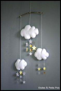 Baby room and decoration in yellow and gray mustard - Stars and Small Peas - Tropical Island, Make Your Own Calendar, Toddler Worksheets, Baby Crib Mobile, Baby Mobiles, Halloween Activities, Decoration, Baby Room, Kids Room