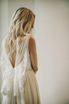 Vestido de novia encaje y tul Bridre dress lace Robe du Mariée