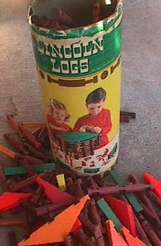 I liked Lincoln Logs. This is interesting... John Lloyd Wright, son of architect Frank Lloyd Wright, put these on the market in 1916. Wright was inspired by his father's design for Tokyo's earthquake-proof Imperial Hotel, which he saw while it was under construction.