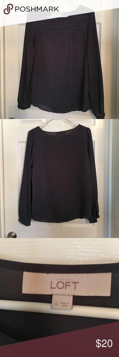 Loft - Small gray detailed blouse Loft- gray detailed blouse LOFT Tops Blouses