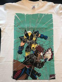 8e46d1571762 X-Men Wolverine Gambit T-shirt Marvel Comics vintage 90s