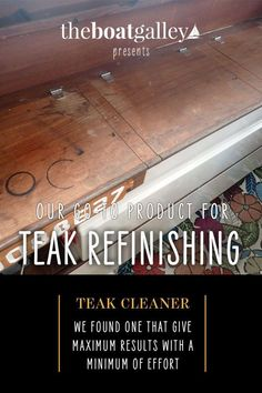 Don't live with tired, stained teak. Here's an easy way to bring it back to it's best. Boat Decor, Marine Environment, Water Crafts, Boating, Teak, Tired, Waves, Cleaning, Diy