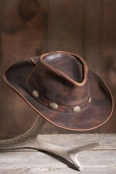 You'll find an awesome selection of cool leather hats here for men and for women. There are leather western hats, leather biker caps, leather...