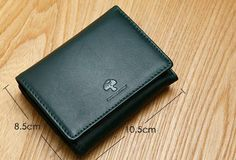 Genuine Leather Cute Slim Short Trifold Wallet Card Holder Wallet Purse For Women Girl Card Wallet, Purse Wallet, Black Love, Continental Wallet, At Least, Card Holder, Slim, Purses, Mini