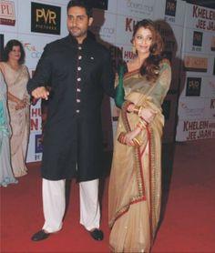 Aishwarya rai's beige color saree