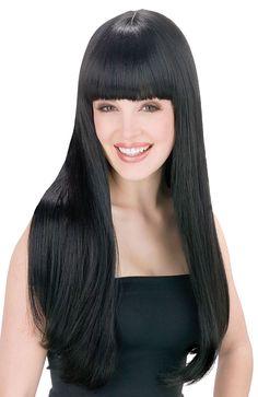Black Wig Accessory Passion Long Fancy Dress