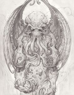 Cthulhu - God Of Cosmic Horror by *CreepySeb || CHARACTER DESIGN REFERENCES | Find more at https://www.facebook.com/CharacterDesignReferences if you're looking for: #line #art #character #design #model #sheet #illustration #expressions #best #concept #animation #drawing #archive #library #reference #anatomy #traditional #draw #development #artist #pose #settei #gestures #how #to #tutorial #conceptart #modelsheet #cartoon #monster @Rachel Oberst Design References