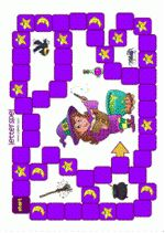 This includes an explanation, please note … – Tables and desk ideas Letter Games, Table Games, Book Activities, Halloween Crafts, More Fun, Board Games, Witch, Kids Rugs, Letters