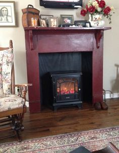 Antique Mantle with Faux fireplace...