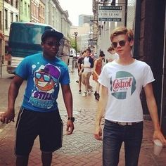 Aml Ameen and Thomas Sangster #lastweekoffimling #mazerunner )'X