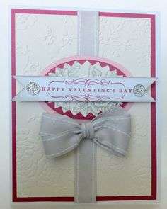 Courtney Lane Designs: Happy Valentine's Day card made using the NEW Anna Griffin cuttlebug folders!