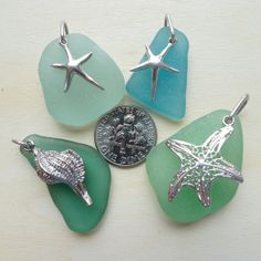 Sea Creatures - Choice of ONE seaglass pendant / charm  $20