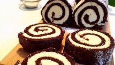 Chokladrulltårta med italiensk marängsmörkräm
