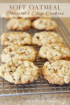 I consider oatmeal cookies the health food of cookies.  And these Soft Oatmeal Chocolate Chip Cookies are my very favorite!  I love the hint of cinnamon in these cookies. And I love that they are softy and chewy, just like a good cookie should be. Both regular and quick cooking oats are fine in this …