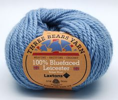 100% Bluefaced Leicester wool in Dusky Blue. We have teamed up with another fantastic British textile manufacturer - Laxtons Yarns, worsted woollen spinners. They have produced this beautiful yarn with such a gorgeous handle especially for us to dye in our Lancashire Dye House.  British premium wool, grown, spun, dyed and balled in the UK.  #threebearsyarn #madeintheuk #weaving #knitting #crochet #crafts #Blackburnyarndyers #wool #bluefaced #madeinlancashire #britishmade #makeitbritish
