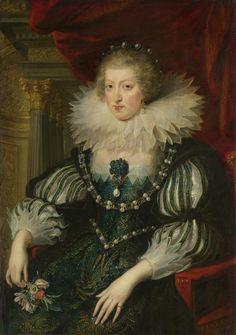 Anne of Austria (1601-66). Wife of Louis XIII, king of France byPeter Paul Rubens, 1625 - 1626. Rijksmuseum, Public Domain