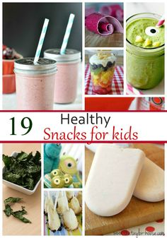 """19 Kids Healthy Snack Ideas"" 