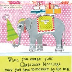 """Curly Girl Designs """"Measure by the Ton"""" boxed holiday cards"""