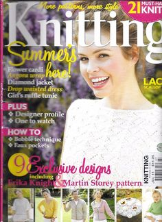 Knitting Magazine March 2010 Issue 74 for sale online Love Knitting, Simply Knitting, Knitting Books, Summer Knitting, Sweater Knitting Patterns, Knitting Designs, Knit Patterns, Knitting Projects, Easy Knitting
