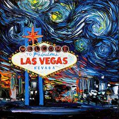 Las Vegas Art  van Gogh Never Saw Vegas  by SagittariusGallery