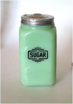 1930's McKee Jadite Green Glass