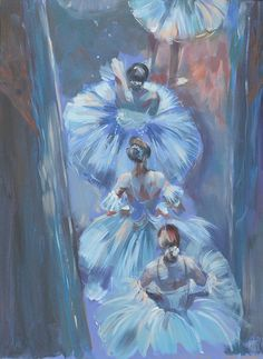 Odette The White Swan Original Arcylic Painting