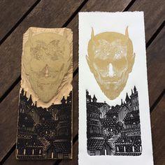 """7,828 Me gusta, 114 comentarios - Ramon Rodrigues (@ramonrodriguesm) en Instagram: """"Xilogravura/woodcut 12,5x29 cm #xilo #xilogravura #xilografia #xilografía #woodcut #printmaking…"""""""