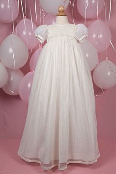 puffy sleeve, high waisted bodice, wedding gown fabric with beading for the bottom