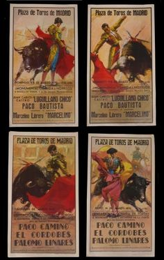 (4) SPAIN BULL FIGHT POSTERS, MARCH 1970 : Lot 866
