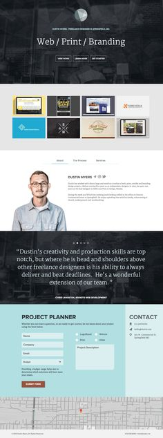http://dustinm.me/ Note: section pagination