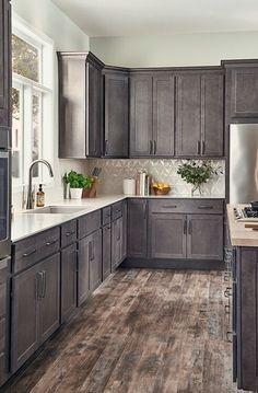 Kitchen Cabinet Kings, Kitchen Cabinet Remodel, Farmhouse Kitchen Cabinets, Kitchen Cabinets In Bathroom, Kitchen Cabinet Colors, Modern Farmhouse Kitchens, Kitchen Redo, Home Kitchens, Kitchen Design