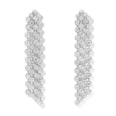 Palmyre earrings, 4 rows. Diamonds.