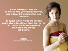The Vow... Paige's Vow  And to agree to disagree on red velvet cake!