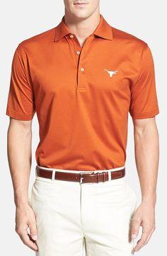 Peter Millar 'Texas Longhorns' Regular Fit Cotton Lisle Polo. #petermillar #cloth #