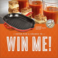 Want to win A grill pan from @WisconsinCheese and @TomatoWellness? I just entered to win and you can too.