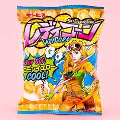 Ginbis Lady Corn Non Fried Corn Snack Japanese Treats, Japanese Candy, Corn Snacks, Savory Snacks, Japanese Grocery, Fried Corn, Caramel Corn, New Fruit, Kawaii Shop