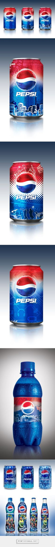 Pepsi by Ammad Kahn on Behance curated by Packaging Diva PD. Nice assorted packaging design collection.