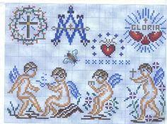 Punto de cruz motivos religiosos - Imagui