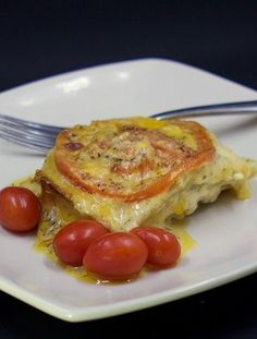 Creamy Cheesy Tomato Potato Au Gratin #CIC  This side dish is amazing! I love the combo of potatoes and tomatoes. It's colorful AND delicious! What would you pair it with?