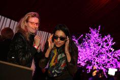 Janina Gavankar checks out blue frames with Crizal UV lenses