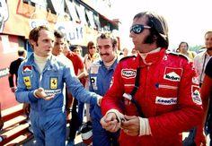Niki Lauda, Clay Regazzoni and Emerson Fittipaldi 1975