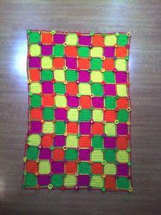 whirligig crochet afghan, crochetbug, crochet squares, rainbow sherbet, crochet blanket