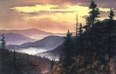 The Official Jim Gray Gallery Website Watercolor Sunset, Watercolor Landscape Paintings, Landscape Art, Watercolor Paintings, Watercolour, Gallery Website, Fantasy Places, Famous Art, Paintings