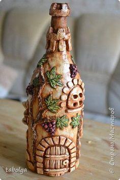 Декор предметов Лепка Бутылка-замок Тесто соленое фото 1