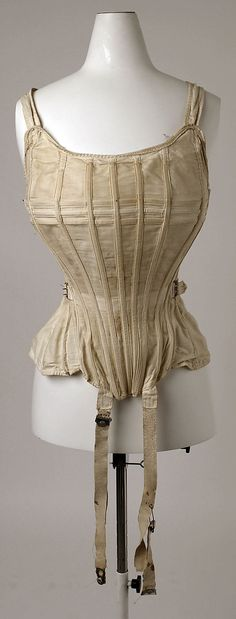 "Corset, The Sahlin Company (American): 1900-1912, American, cotton.    Marking: [label] ""Sahlin Perfect Form and Corset Combined"""