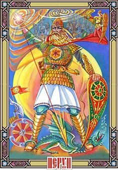 Perun ,  God of thunder and lightning, also is worshiped as supreme god