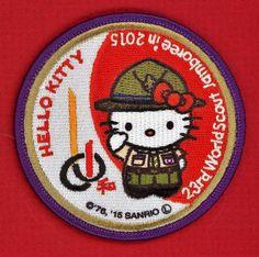 OFF'L HELLO KITTY  PATCH 2015 23rd WORLD JAMBOREE YAMAGUCHI JAPAN BOY SCOUT BSA